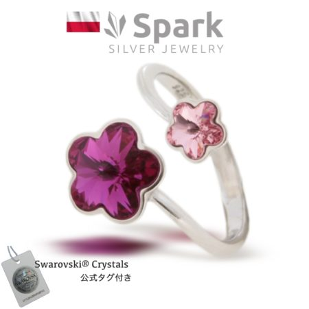 リング,指輪,スワロフスキー,花